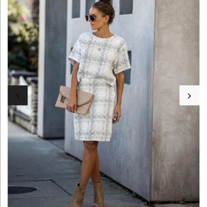 Tweed skirt and top